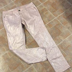 Decree pink metallic super skinny pants size 13